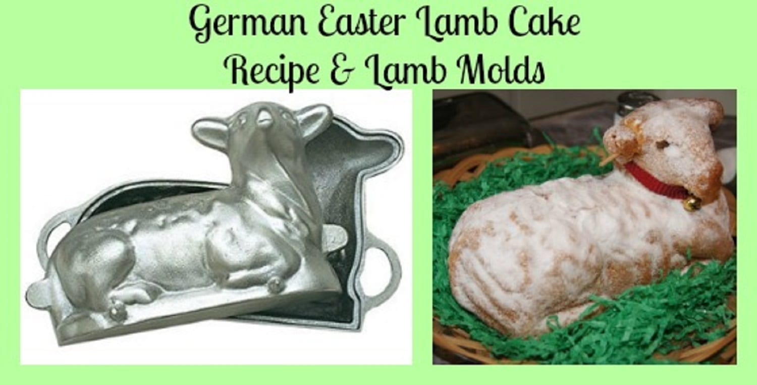 German Easter Lamb Cake Recipe and Lamb Molds