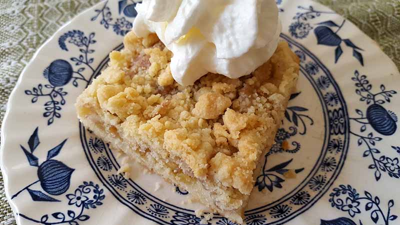 Recipe for Apple Streusel Cake  – A German Style Cake in an American Pan