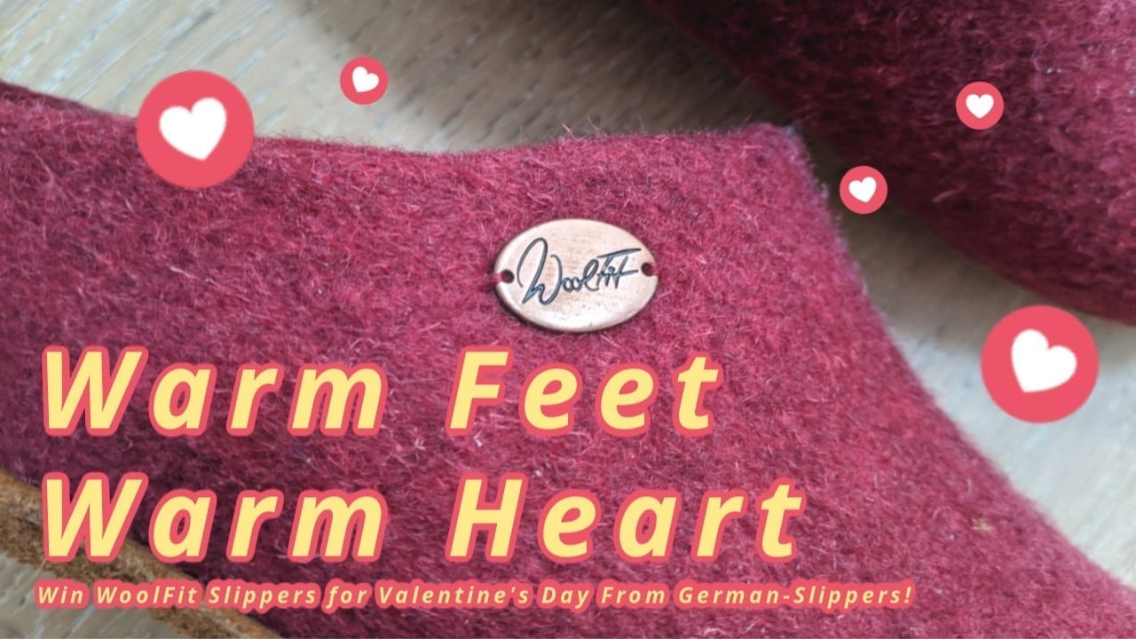 Warm Feet Warm Heart! Win WoolFit Slippers for Valentine's Day!